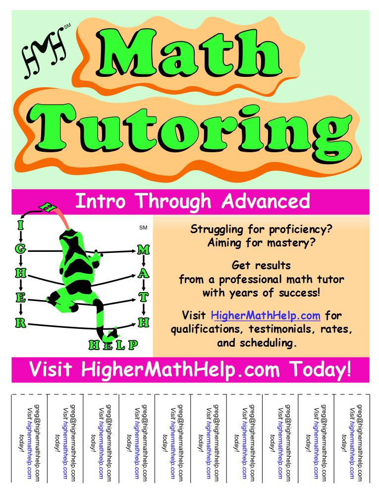 Higher Math Help Promotional Flyer