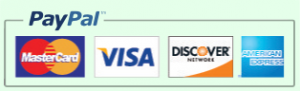 Logo - PayPal, MasterCard, Visa, Discover, American Express Accepted