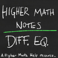 Differential Equations Notes Higher Math Help Paul's online math notes are a great source and makes an excellent textbook. higher math help