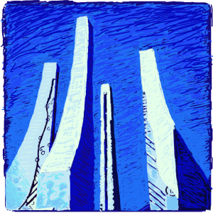 Drawing of the Purdue Engineering Fountain